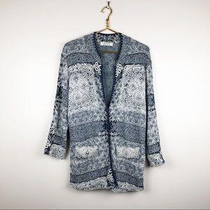 Anthropologie Aldomartins Blue Cardigan Sweater